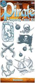 Tinsley Transfers Inc. CT-407 Pirate Buccaneer Temporary Tattoo