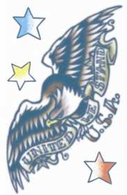 Tinsley Transfers Inc. VT-127 1950 Eagle Temporary Tattoo