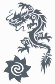 Tinsley Transfers Inc. TL-606 Tribal Dragon Temporary Tattoo