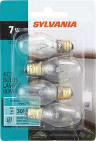 Sylvania/Osram 13545 7w Night Light Bulb Clear Small Base 4 Pack