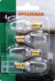 Sylvania/Osram 13549 4w Night Light Bulb Clear Small Base 4 Pack