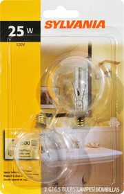 Sylvania/Osram 13625 25w Clear Incandescent Globe 2 in Small Base 2pk