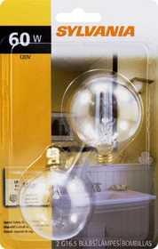 Sylvania/Osram 13665 60w Clear Incandescent Globe 2 in Small Base 2 Pack
