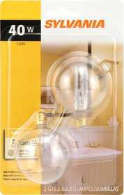 Sylvania/Osram 13666 40w Clear Incandescent Globe 2 in Small Base 2 Pack