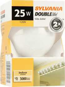 Sylvania/Osram 14146 25w Incandescent Globe Double Life White 3 in