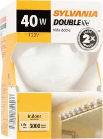 Sylvania/Osram 14148 40w Incandescent Globe Double Life White 3 in 1pk