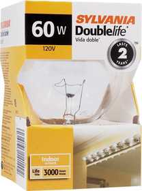 Sylvania/Osram 14149 60w Incandescent Globe Double Life Clear 3 in 1pk