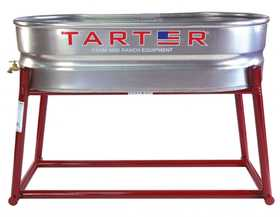 Tarter Farm and Ranch WT214S Galvanized Water Tank 2x1x4 With Spigot