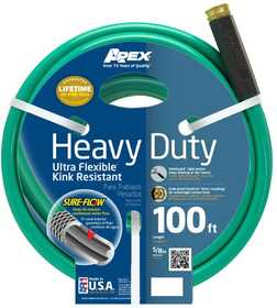 Teknor Apex Company 8605-100 Neverkink Heavy Duty Ultra Flex Hose Green Metallic 5/8 in x100 ft
