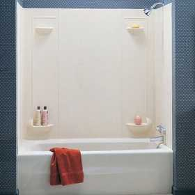 The Swan Corp. TF57 5 Pc. White Veritek Tub Wall Kit
