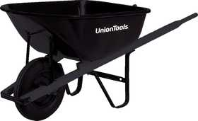 Union Tools S6U25 Steel Wheelbarrow 6 Cu Ft