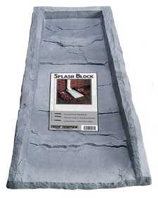 Southern Patio 13200 Gutter Splash Block Simulated Slate
