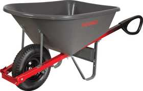 Ames/True Temper CP6TC14 6 Cu. Ft. Total Control Poly Wheelbarrow