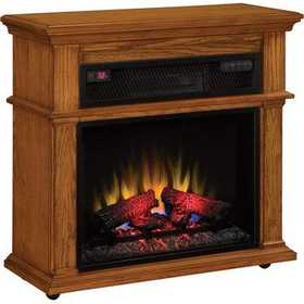 Twin-Star International 23IF1714-0107 Duraflame Infrared Rolling Electric Fireplace Mantel