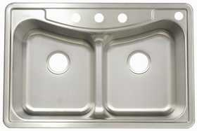 FrankeUSA FBFG904BX Stainless Steel Double Bowl Topmount Kitchen Sink