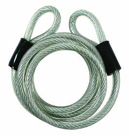 Howard Berger/Ultra Lock 681 Guard Security 681 Vinyl Coated Coiled Cable With Loop Ends, 6-Feet X 5/16-Inch