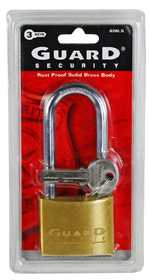 Howard Berger/Ultra Lock 626LS Padlock Brass Solid L/S 2 in