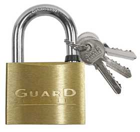 Howard Berger/Ultra Lock 627 Guard Security 627 Solid Brass Padlock With 2-1/2-Inch Standard Shackle