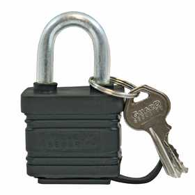 Howard Berger/Ultra Lock 740WP Guard Security 740wp Black Weatherproof Laminated Steel Padlock With 1-1/2-Inch Standard Shackle