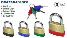 Howard Berger/Ultra Lock PL-122-A1 Padlock Brass Match Key