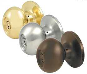Howard Berger/Ultra Lock 44168 Privacy Egg Knob Polished Brass