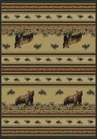 United Weavers 533 11017 Area Rug 3 ft 11x5 ft 3 Pine Creek Bear N