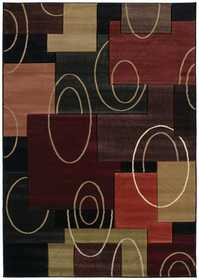 United Weavers 510 20576 Area Rug 5 ft 3x7 ft 6 Cha Cha Onyx