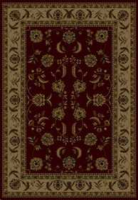 United Weavers 160 12934 Rug 5 ft 3 x 7 ft 6 Annabel Burgundy