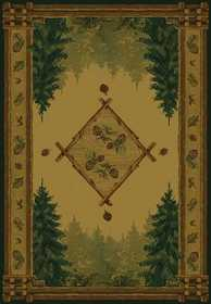 United Weavers 530 51043 Rug 1 ft 11 x 7 ft 4 Forest Trail Lodge