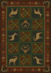 United Weavers 530 51543 Area Rug 1 ft 11x7 ft 4 White Tail