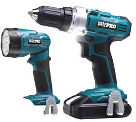 Ultra Steel AQ76004S 20v Cordless Drill & Flashlight Combo Lithium Ion