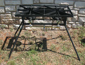 Texas Outdoor Cookers DB-RL Double Burner Cooker 15x30