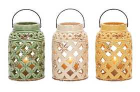 Uma Enterprises Inc. 38858 Ceramic Lantern 9 in 3 Assorted