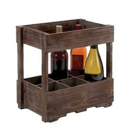 Uma Enterprises Inc. 50217 Wood Crate Wine Rack 14X14