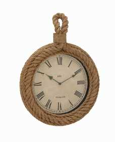 Uma Enterprises Inc. 68573 Wood and Rope Wall Clock 17X23
