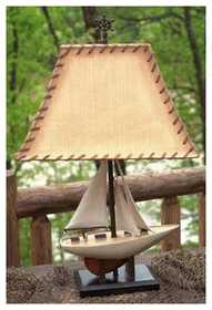 Vintage Verandah CL1463 Table Lamp Sailboat 27 In