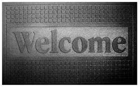 WJ Dennis FUWBL1830 18 in X 30 in Outdoor Welcome Mat, Recycled Rubber