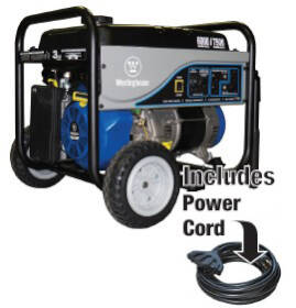 Westpro Power Systems WH6000S 6000w Rated Generator With 25 ft Cord