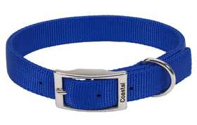 COASTAL PET PRODUCTS CP2901BLU24 Double Ply 1 in X 24 in Nylon Dog Collar, Blue