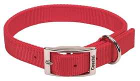 COASTAL PET PRODUCTS CP2901RED24 Double Ply 1 in X 24 in Nylon Dog Collar, Red