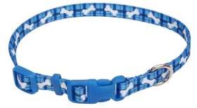 COASTAL PET PRODUCTS CP6321PBO812 Adjustable 8 in -12 in X 3/8 in Styles Dog Collar, Plaid Bones