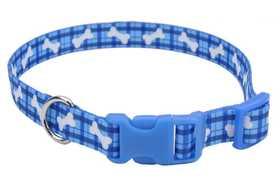 COASTAL PET PRODUCTS CP6421PBO1014 Adjustable 10 in -14 in Dog Collar, Plaid Bones