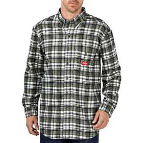 Dickies RL310WFP Flame-Resistant Long Sleeve Plaid Shirt L