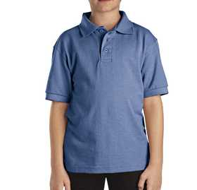 Dickies KS4552LB Kids' Short Sleeve Pique Polo Shirt L
