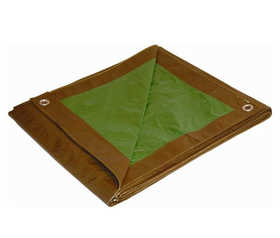 Cimarron 11824 18x24 Brown/Green Reversible Tarp
