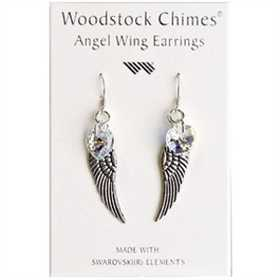 Woodstock Percussion CWAB Angel Wing Earrings Aurora Borealis