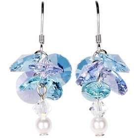 Woodstock Percussion GAFE Garden Reflections Forget Me Not Earrings