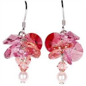 Woodstock Percussion GARE Garden Reflections Pink Rose Earrings