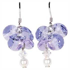 Woodstock Percussion GAWE Garden Reflections Wisteria Earrings