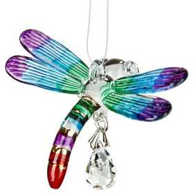 Woodstock Percussion CDRAI Dragonfly Fantasy Glass Suncatcher